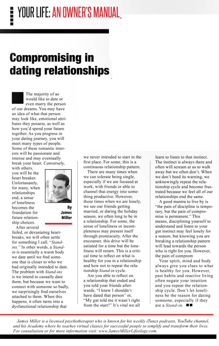 Compromsing in your dating relationship